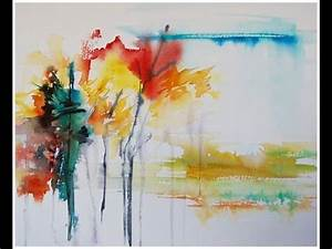 Paint an Abstract Landscape in Watercolor! - YouTube