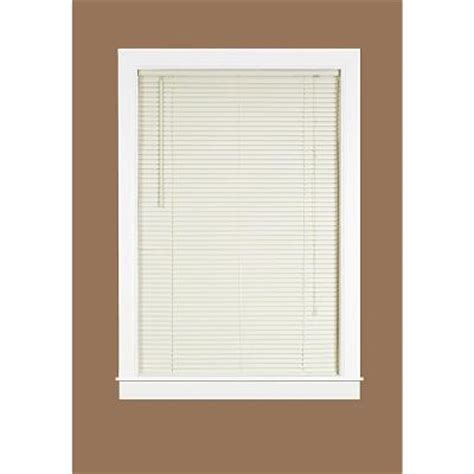 home depot mini blinds deluxe sundown vanilla 1 in room darkening vinyl mini