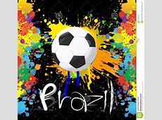 Football World Cup With Paint Splash Color Stock Vector