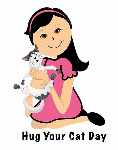 Hug Cat Clipart Clip Cartoon National Kitty