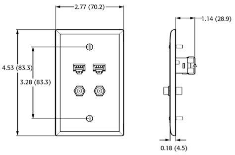 leviton quickplate data phone wall plates leviton 5ea10 cableorganizer