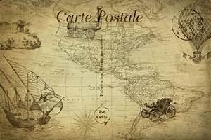 Map Vintage Tra... Public Domain Travel Quotes