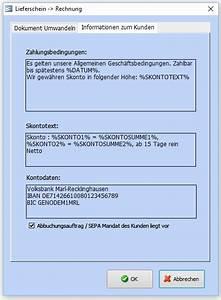 Zahlart Rechnung : lieferscheine erstellen faktura xp warenwirtschaft ~ Themetempest.com Abrechnung