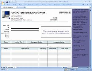 Computer service invoice template uniform invoice software for Computer invoice software