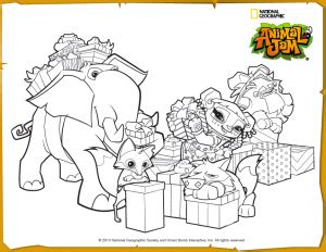 animal jam jamaalidays scene coloring page projects