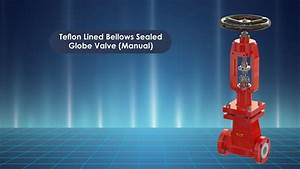 Teflon Lined Bellows Sealed Globe Valve  Manual   U2013 Uniflow