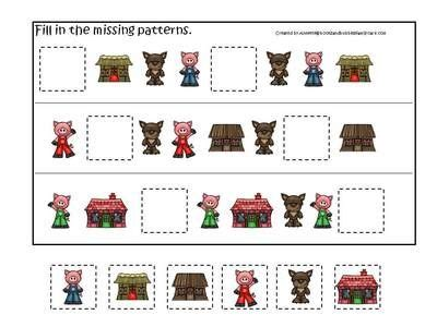 the three little pigs preschool activities three pigs preschool activities 3 part match 753