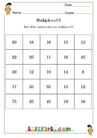 multiples  worksheet grade grade  maths worskheets