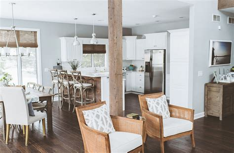 rustic chic kitchen breezy summer house on lake wisconsin clad in chic modern White