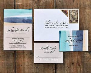 St ives bay wedding invitations and save the dates by feel for Bay photo wedding invitations