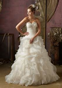 Organza ruffle wedding dress for Ruffle wedding dress