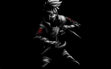wallpaper kakashi naruto fan art black dark background