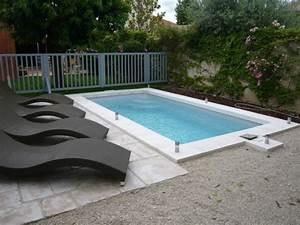 Piscine Coque Pas Cher : petite piscine coque piscine polyester rectangulaire ~ Mglfilm.com Idées de Décoration