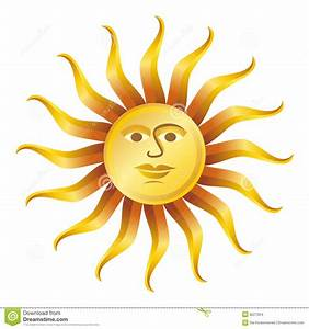Retro Sun On White, Vector Illustration Stock Images ...