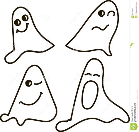 Halloween Border Clip Art by Ghosts Black And White Drawing Emotions Nfunny Smile