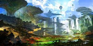 Chrono, Cross, Fantasy, Art, Digital, Art, Artwork, Concept, Art, Futuristic, Trees, Feng, Zhu