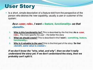 Strategies to split user stories for As a user i want user story template