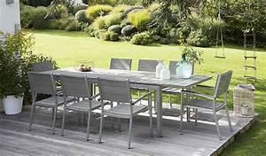 Table Pour Terrasse : salon de jardin pour terrasse table exterieur bois maisonjoffrois ~ Teatrodelosmanantiales.com Idées de Décoration
