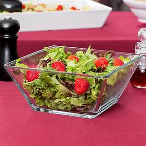 Square Glass Salad Bowls — Home Ideas Collection