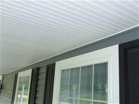 vinyl porch ceiling using vinyl beadboard soffit for porch ceilings