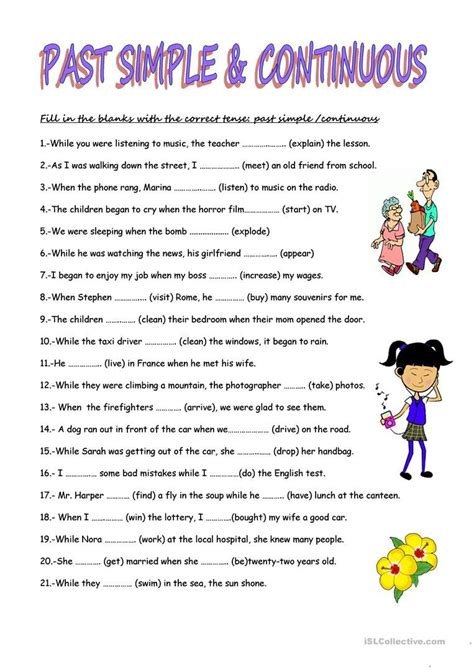 simple  tense exercises worksheets images