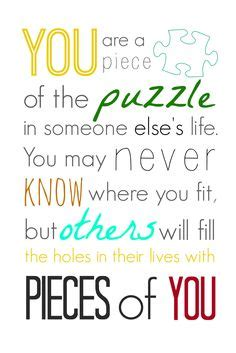 Family Life Puzzle Quotes