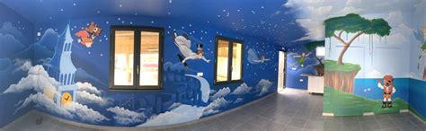 fresque chambre b trompe l 39 oeil fresque murale décor peint prénom plaque
