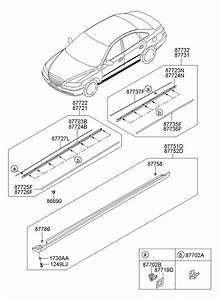 2008 Hyundai Azera Grommet  Mldgside  Mldgssill  Sillwide