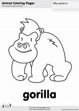 Gorilla Coloring Simple Super Pages Animal Learning Worksheets Flashcards Colouring Animals Resource Songs Supersimple Supersimplelearning Flashcard Zoo Kindergarten Wag Tail sketch template