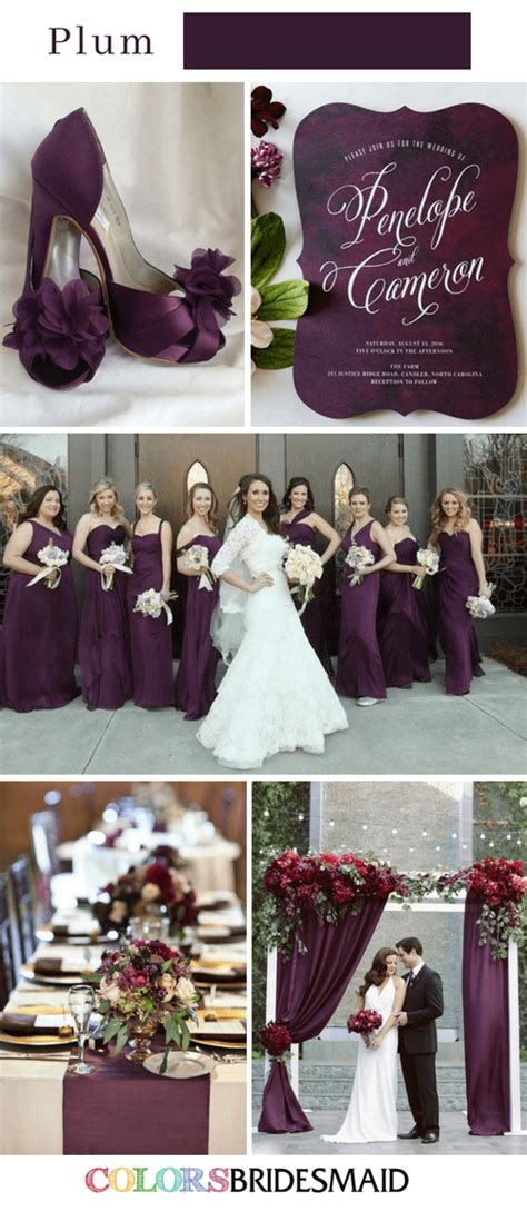 wedding color schemes for fall fall wedding colors with purple 10 purple wedding color