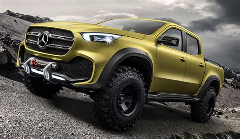 mercedes pickup mercedes benz unveils a jaw dropping pickup truck