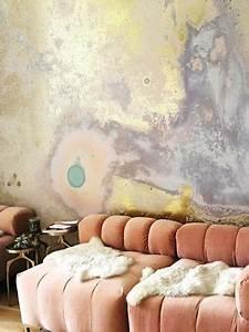 Kunst An Der Wand : marmorierte tapeten wir lieben die abstrakte kunst an der wand in unserem wohnzimmer kkkk ~ Markanthonyermac.com Haus und Dekorationen