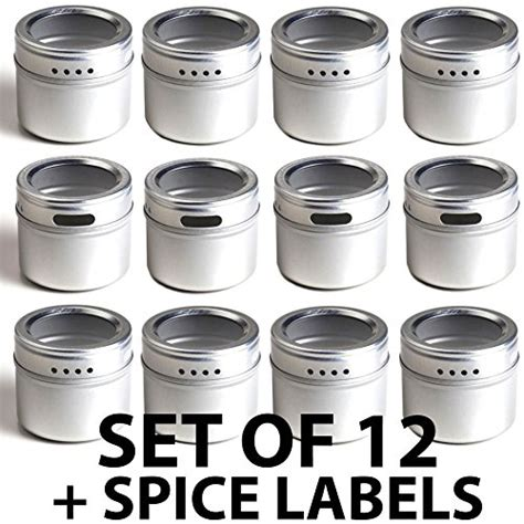 Spice Rack Stickers by 12 Magnetic Spice Tins And 113 Spice Labels By Talented