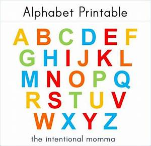the intentional momma alphabet printable for magnet With magnetic letter printables