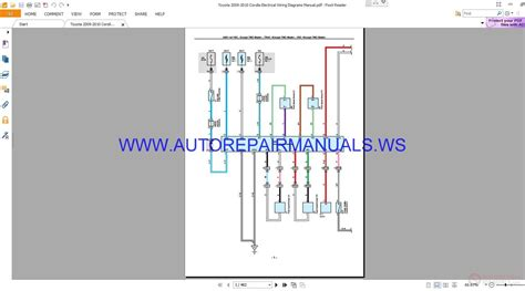 toyota 2009 2010 corolla electrical wiring diagrams manual