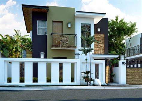 double story house plan floor area  square meters small house design