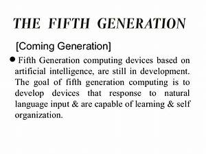 Concept & generation of computers