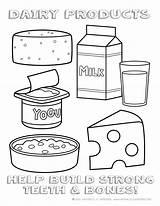 Dairy Coloring Foods Worksheet Worksheets Worksheeto Via Kindergarten sketch template