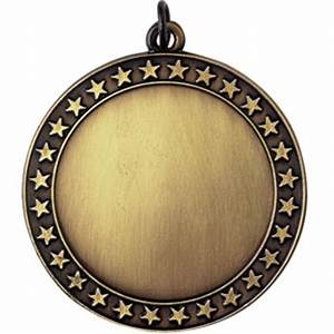 Gold Blank Center 2in Medal | Nu Image Engraving & Awards