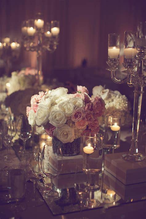 pink  white rose centerpiece elizabeth anne designs