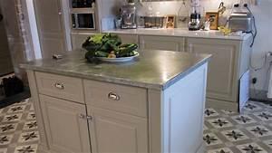 Faire Un Plan De Travail : comment faire un ilot central cuisine 2 plan de travail ~ Dailycaller-alerts.com Idées de Décoration