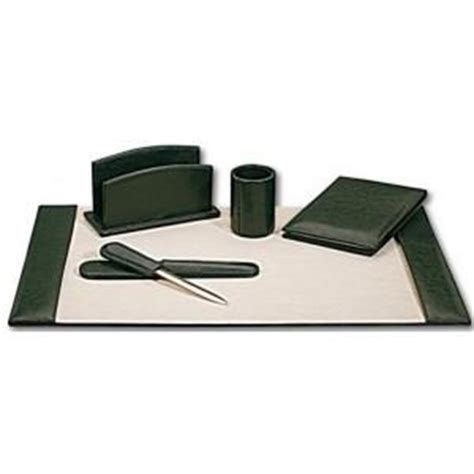 set de bureau set de bureau cuir vert surdiscount destockage grossiste
