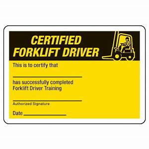 Certification photo wallet cards certified forklift driver seton for Forklift certification card template free