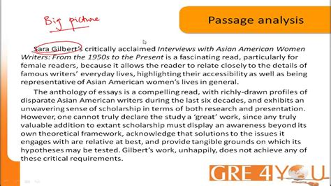 Gre4youcom Tips On Gre Verbal Reasoning Reading Comprehension Youtube