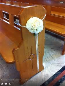 baby s breath bouquet 1000 ideas about church pew decorations on