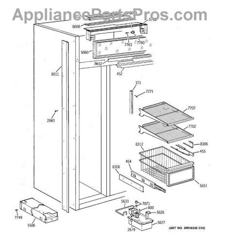 parts  ge zisbdyb freezer section parts