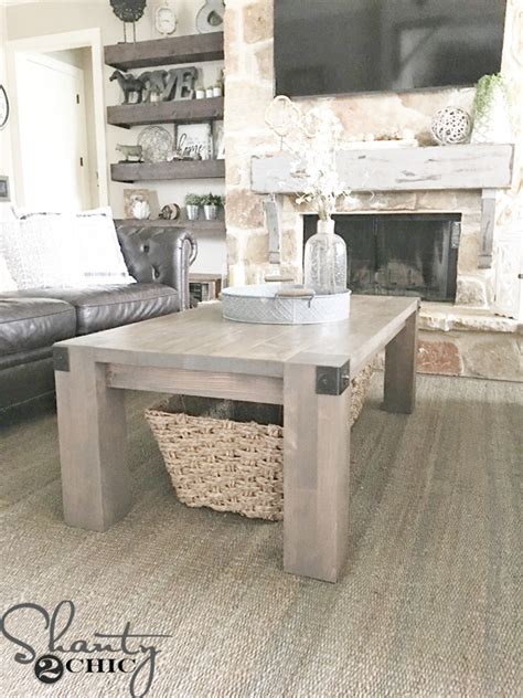 This stunning piece will be the. Modern Farmhouse Coffee Table and How-To Video - Shanty 2 Chic