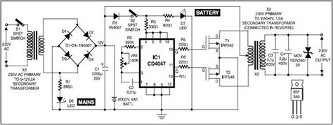 circuit diagram  ups  cordless telephones