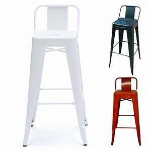 Chaise De Bar Tolix : chaise de bar design tolix h75cm petit dossier par tolix design par livraison gratuite pour ~ Teatrodelosmanantiales.com Idées de Décoration