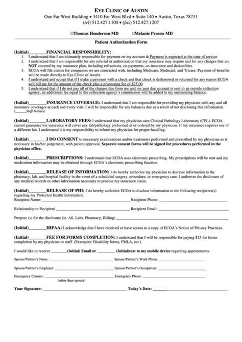 texan plus referral form patient authorization form printable pdf download